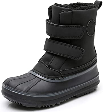 Kids Boys Girls Warm Waterproof Snow Boot Fleece Lined Thermal Non-slip Shoes