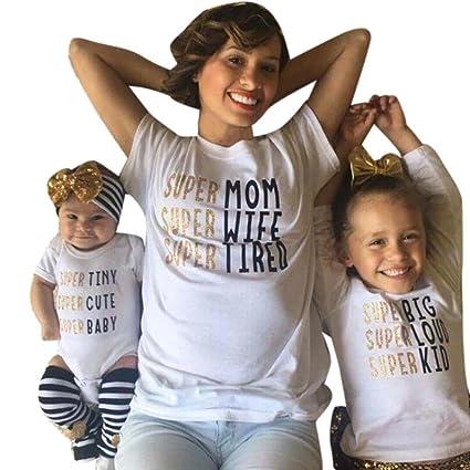 amazon com franterd mom dad baby parent child short sleeve