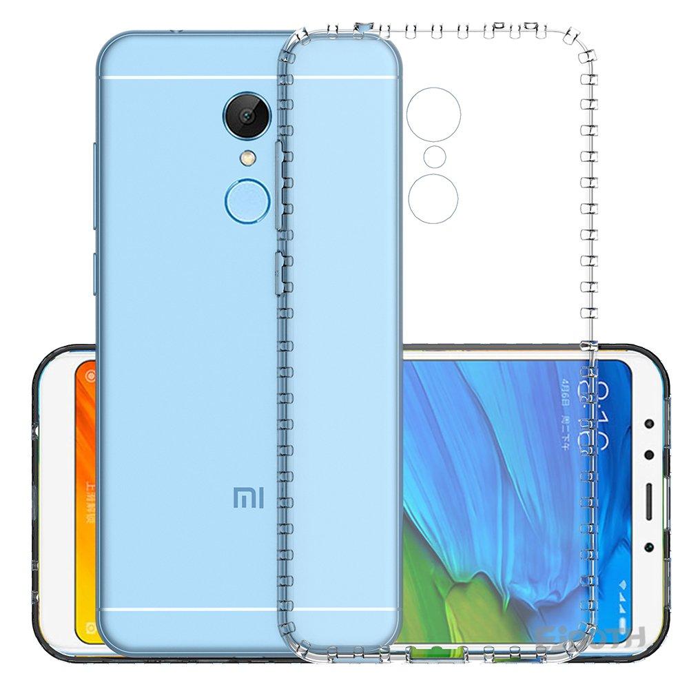 شاهد التفاصيل غطاء Xiaomi Redmi 5 Plus ، غطاء حماية بطبقة شفافة من ايبوث TPU ، غطاء حماية ناعم لهواتف Xiaomi Redmi 5 Plus [اطار ناعم TPU + سطح خلفي اكريليك جامد]