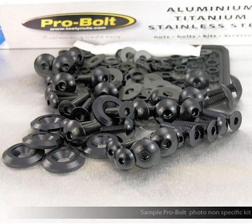 Honda CBR 1000 RR Fireblade 2015 JMP Pro Bolt Black Aluminium Fairing Bolt Kit