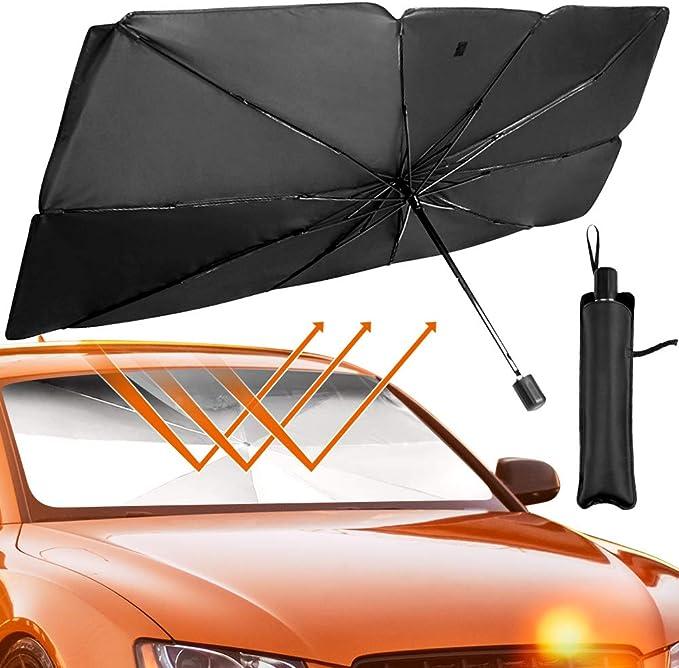 Math Formula Automatic Tri-Fold Umbrella Parasol Sun Umbrella Sunshade