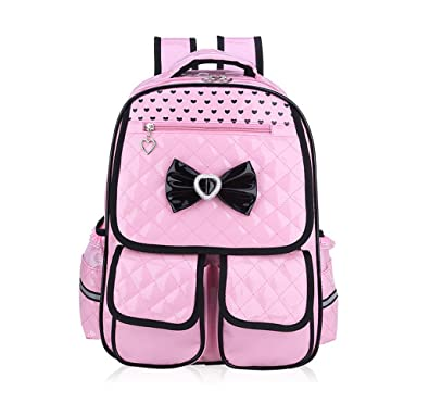 7d7b80a230 Tibes Children Backpack Lightweight Backpack Cute Waterproof Backpack For Girls  kids Backpack Pink  Amazon.co.uk  Shoes   Bags