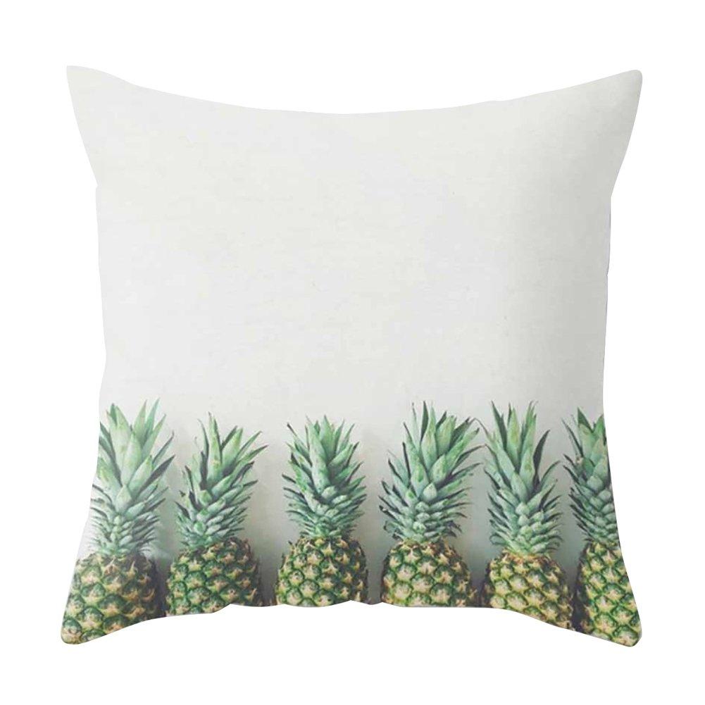 pu ran Ananas-Frucht-Kissenbezug Sofakissen Zuhause Kissenbezug 1# Dekoration Bett Auto