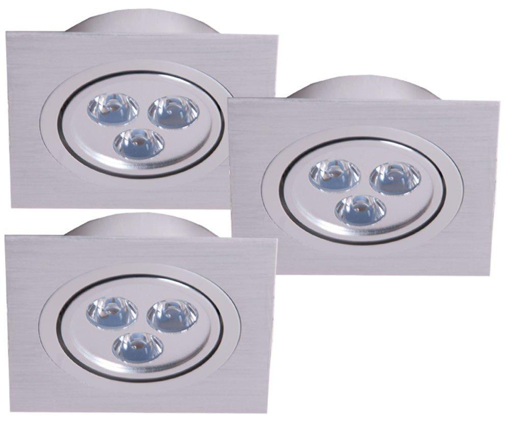 3er Set LED Einbau Strahler Leuchten Spots Lampen Beleuchtung ...