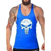 Robo Homme Débardeur de Sport T-Shirt Gilet sans Manche Maillot Tank Top Stretch Fitness Gym