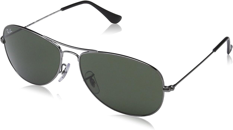 582732de3b Amazon.com  Ray-Ban Cockpit Sunglasses Gunmetal Crystal Green