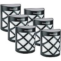 6-Pack FomaTrade Solar Fence Post Lights (Warm Light)