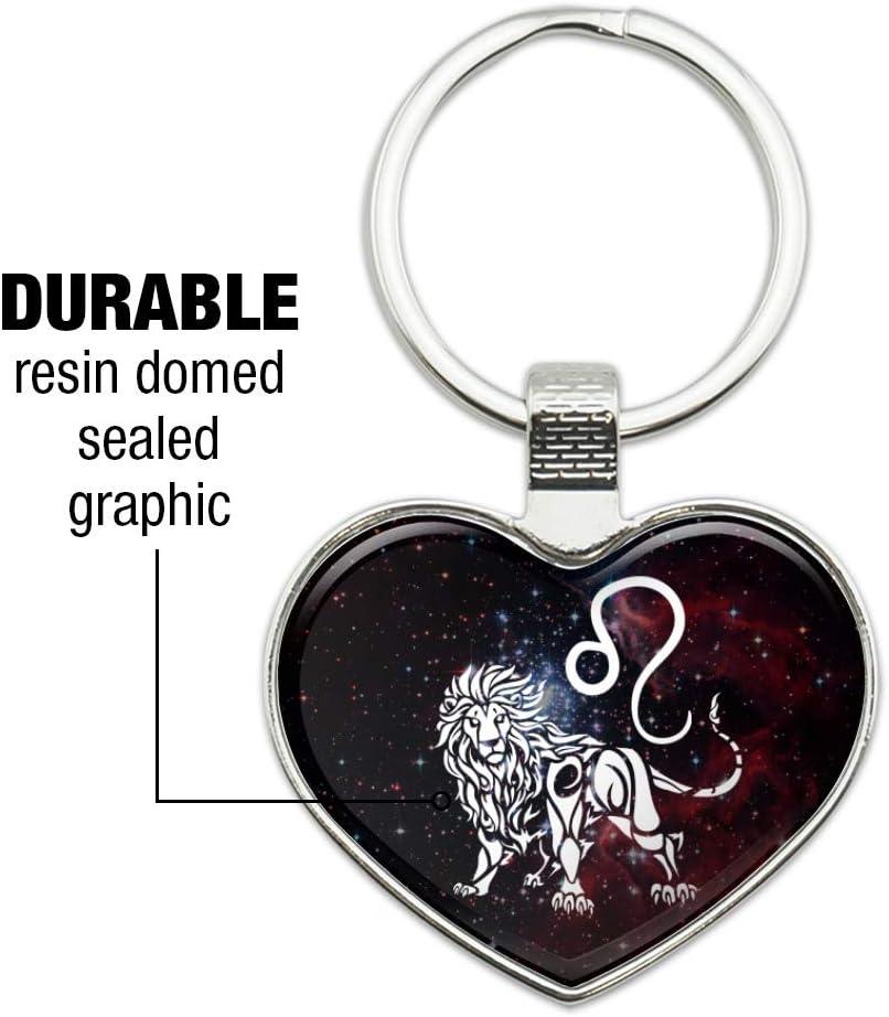 Metal Ring Key Chain Keychain Zodiac Signs Sign LEO Lion Logo