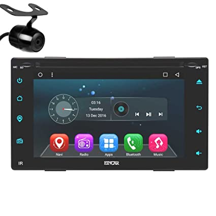 Actualizar Android 6.0 Doble DIN Coches Reproductor de DVD 6.2 Stereo Pantalla t¨