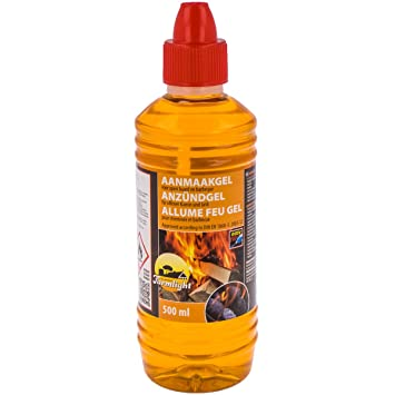 Gel encendedor líquido de 500 ml para barbacoa y parrilla, para todo tipo