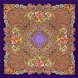 Pavlovo Posad Russian Shawl Pashmina Scarf Wrap Plus Size Purple Wool 58x58