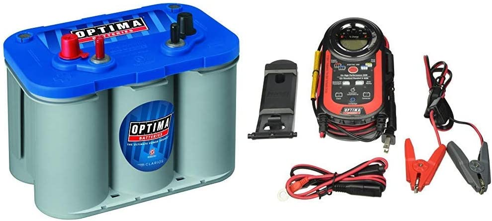 Optima Batteries 8016-103 D34M BlueTop Starting and Deep Cycle Marine...