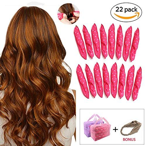 Split Headband (Foam Hair Rollers Curlers Sleep No Heat Hair Styling DIY Tool for Long Medium Wavy, Tight, Spiral Curls Hair + Free Headband)