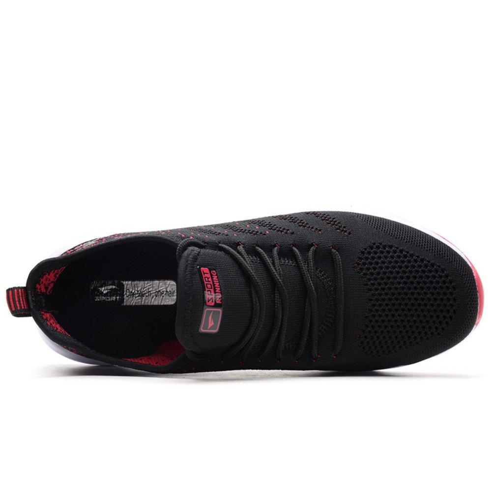 AZOOKEN Herren Damen Sneaker Laufschuhe Sportschuhe Straßenlaufschuhe leicht Walkingschuhe Running Turnschuhe Shoes(635-BKRE44)