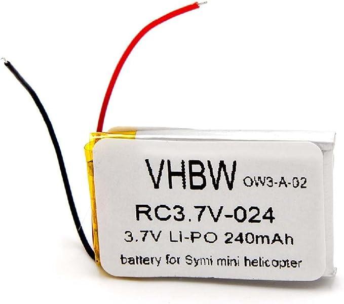 240 mAh passend f/ür alle g/ängigen Mini und Micro Helikopter efaso Li-Po Akku 3,7 V