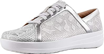 c1388c75d2ad09 FitFlop Women s F-Sporty II Python Print Sneakers Urban White 5