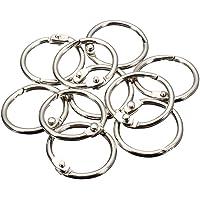 KNAFS Binder Ring,Key Chain Key Rings,Card Ring, Stainless Steel 10 Pieces - Diameter 3.5 cm