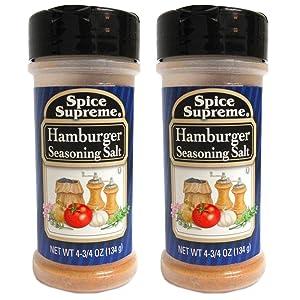 2 Pack Spice Supreme?� Hamburger Seasoning Salt Burgers Grill Cooking 4.75 oz New