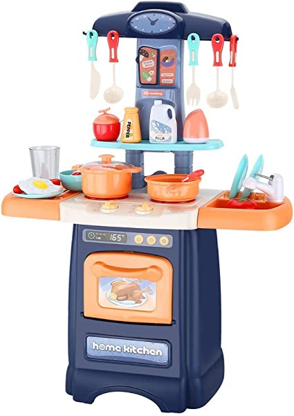 Amazon Com Wodtoizi Kitchen Playset Kids Cooking Toys Set W Realistic Sounds And Lights Mini Chefs Pretend Play Dessert Food Assortment Set Party Role Play Toy Educational Birthday Toys For Boys Girls Children