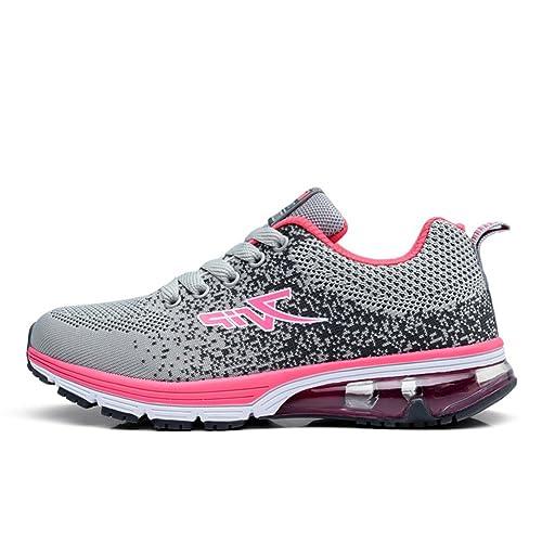 T-Gold Zapatillas de Running para Hombre Mujer Calzado Deportivo Deportivas Verano(EU 40,Rosa)