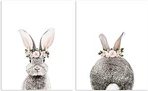 Set of 2 Baby Animal Nursery Prints 8