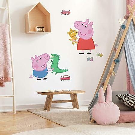 Designer George Pig papillons Sparkle Papillons Pepper Pig 3d Wall Decals