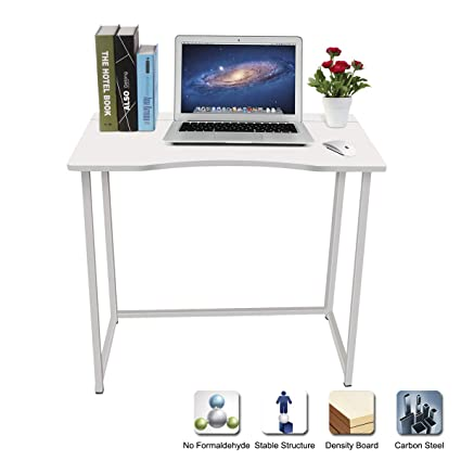 LASUAVY Compact Folding Computer Table Desk Laptop Desktop Table Foldable  Office Desk For Home Office