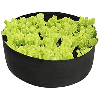Shengruhua Plant Grow Bags | Fabric Raised, Planting, Bed-Non-Woven, Garden, Grow, Bags, Herb, Flower, Plants, Bed, Round, Planter-Black : Garden & Outdoor