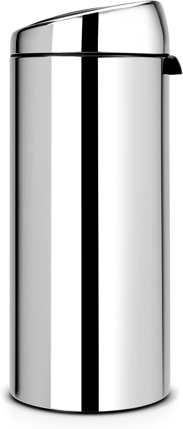 Brabantia 30 Litre Soft Touch Bin - Brilliant Steel