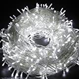 LED String Lights Fairy Twinkle Lights with Multi Flash Modes & Tail Plug Connect 33 feet 100 LEDs Decorations for Party, Wedding, Kid's Bedroom, Christmas Festival, Restaurant and Club Bar (White Brightness)