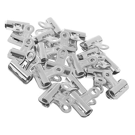 20 Pieces 65mm Premium Steel Bulldog Clips