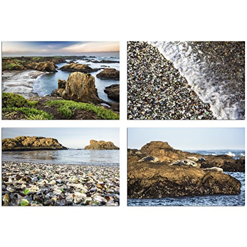Beach Wall Art, Set of Four Photos,