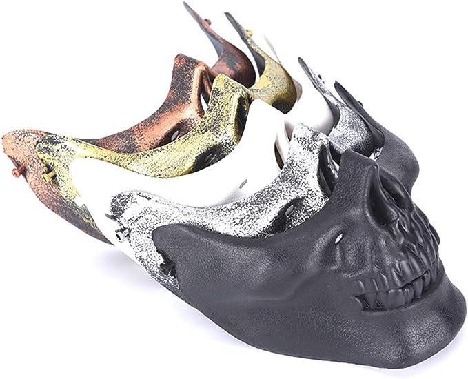 Skull Skeleton Half Face Mask Hard Protective Gear for CS Wargame Halloween