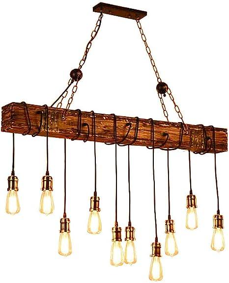 Amazon.com: LADIQI - Lámpara colgante de madera, estilo ...