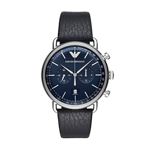 13c1e121d463 Emporio Armani AR11105 Men s  Dress  Quartz Stainless Steel and Leather  Casual ...