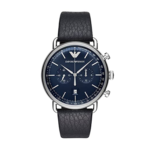 4cf59d8c00e8 Emporio Armani Reloj Analogico para Hombre de Cuarzo con Correa en Cuero  AR11105  Amazon.es  Relojes