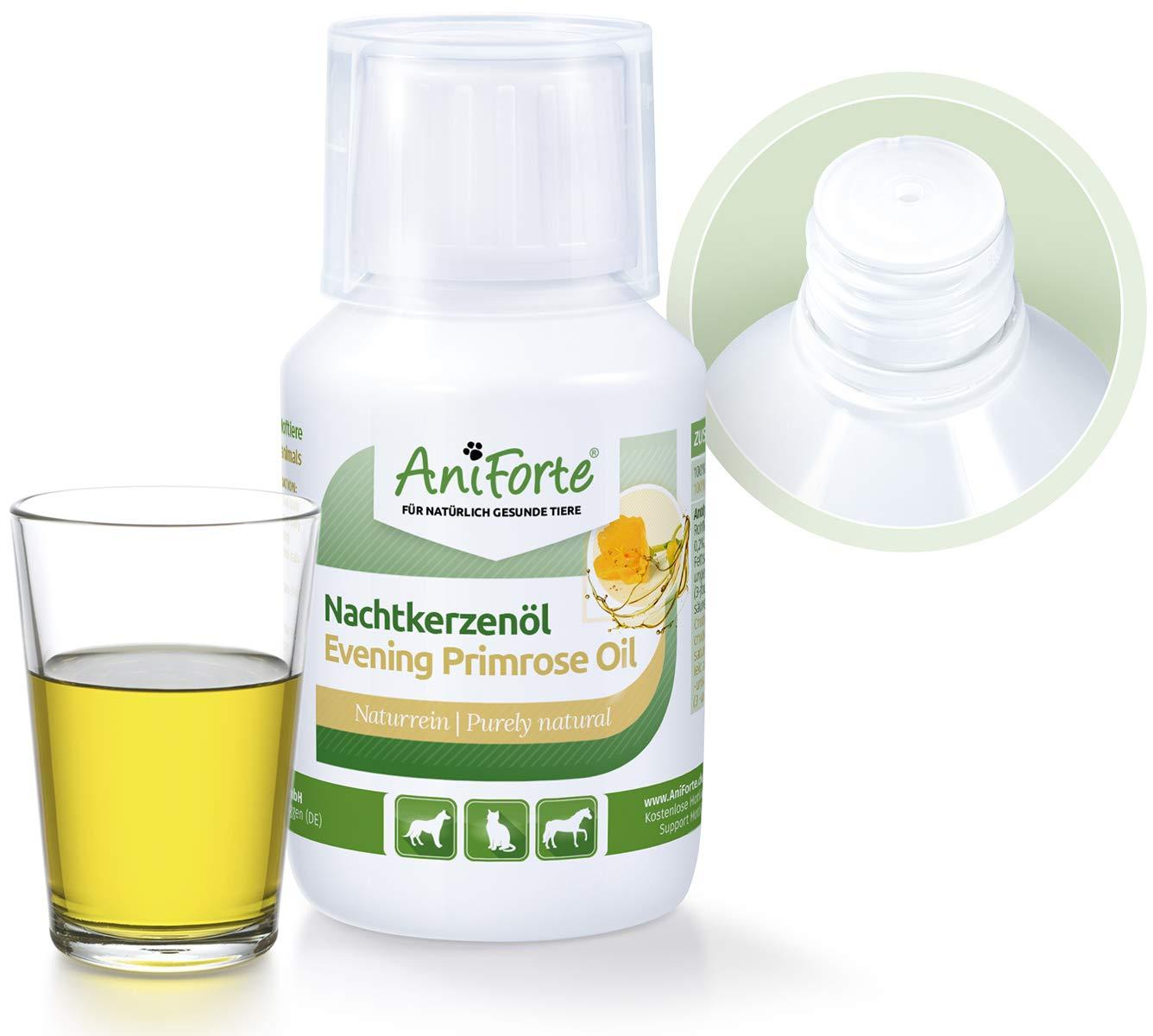 AniForte natural Aceite de onagra 100 kle Naturprodukt para perro, Gatos y Caballos: Amazon.es: Productos para mascotas
