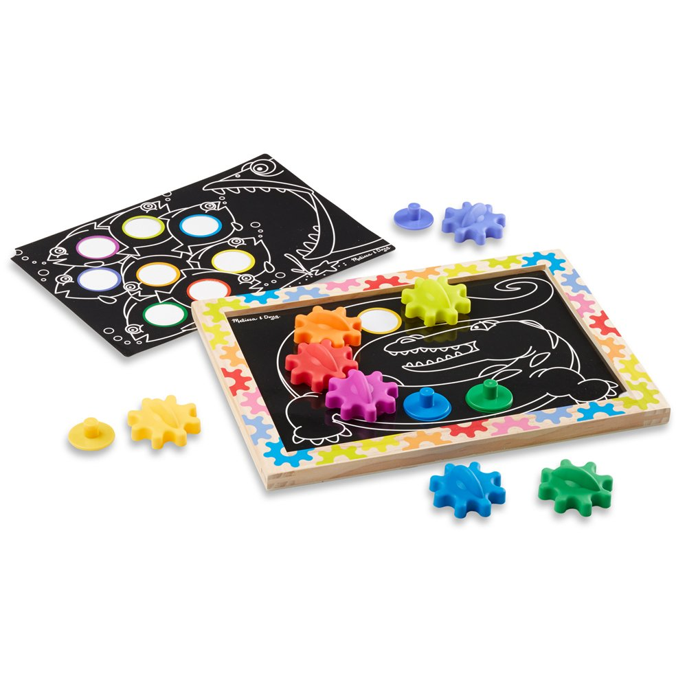 Melissa /& Doug Switch and Spin Magnetic Gear Board Educational Toy With 8 Gears and 5 Double-Sided Designs 3745