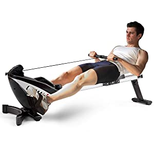 GoPlus Magnetic Adjustable Resistance Rowing Machine