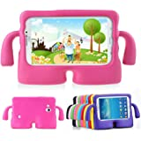 Lioeo Galaxy Tab 3 7.0 Case Kids Tab 3 Lite Case Full Protection Cases Cover with Handle for Samsung Galaxy Tablet 3 /3 Lite 7 Inch NOT Fit For 8 Inch (Hot Pink)