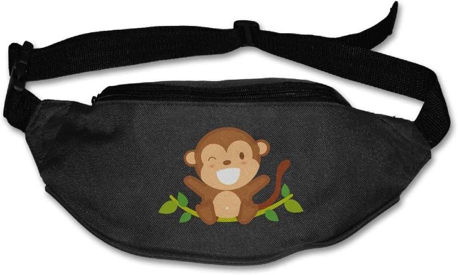 Unisex Pockets Monkey Fanny Pack Waist//Bum Bag Adjustable s Running Cycling Fishing Sport Waist Bags Black