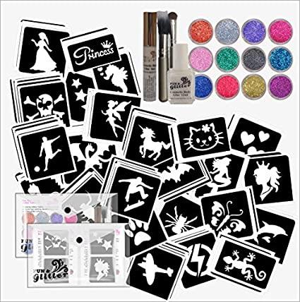 Amazoncom Starter Glitter Tattoo Kit With 120 Mixed Boys Girls