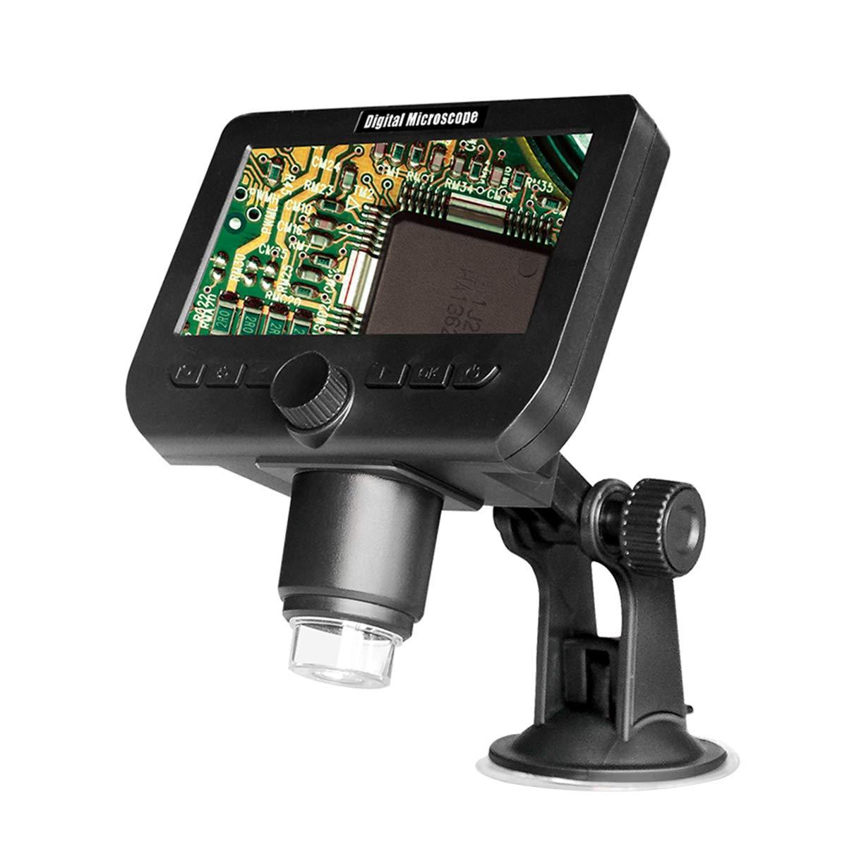 【人気ショップが最安値挑戦!】 LIOOBO WiFi 1000X 4.3インチ デジタル顕微鏡 WiFi HD HD 1080P (ブラック) ポータブル デスクトップ LCD 調節可能なブラケット付き 画像キャプチャビデオ録画用 (ブラック) B07Q8KDPNY, フラダンス トーチジンジャー:5c6c3a8c --- berkultura.ru