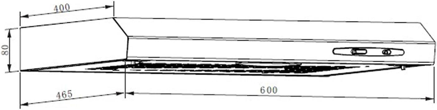 Klarstein UW60BL Campana extractora (317 m³/h Capacidad de extracción, 60 cm de Ancho, Funcionamiento silencioso, 2 filtros extraíbles de Aluminio Lavables, Acero Inoxidable): Amazon.es: Hogar