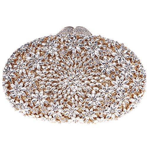 Fawziya Floral Egg Shape Crystal Clutch Purse Party Clutches - Of Hong Kong Name Official