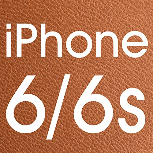 iPhone 6S leather Case, LBT Genuine Leather Stand Case Magnetic Smart Cover with Windows View for Apple iPhone 6/6sCompatible with IOS8 - 100% Handmade Folio Case Flip Phone Holder Protective Cover in Brown Lbt-IP6-12L21