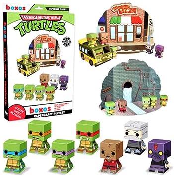 Teenage Mutant Ninja Turtles Papercraft Activity Set: Amazon ...
