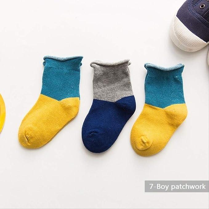 MCYYY 3 pares/manos Calcetines 100% algodón para bebé Calcetines ...