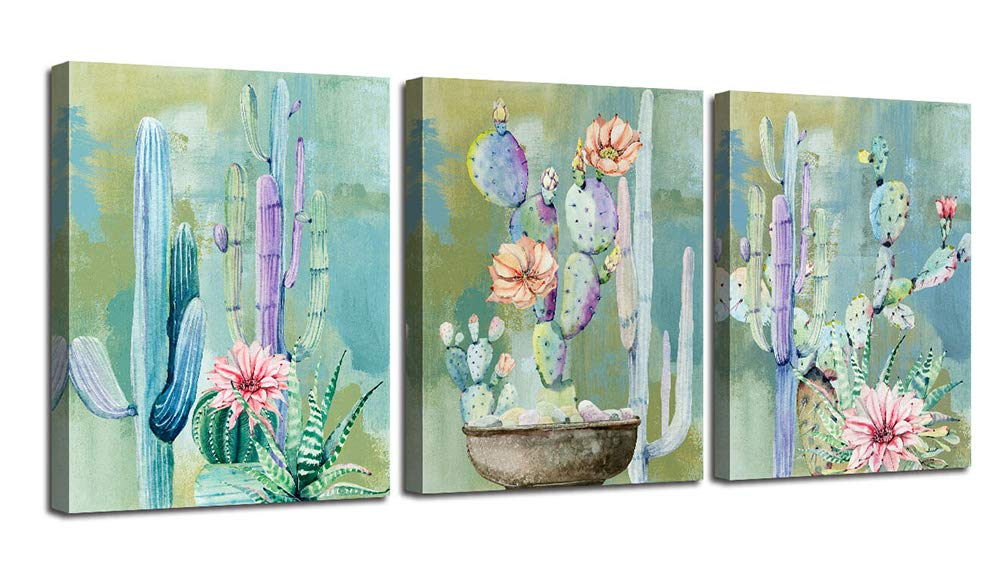 Ardemy Canvas Wall Art Flowers Yellow Sunflower Painting Prints 12x16x3 pcs 3 Panels Florals Black and White Modern Pictures for Bedroom Bathroom Living Room Spa Salon Wall Decorations