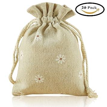 Bolsas de arpillera con cordón, iceblueor 20 pcs algodón ...